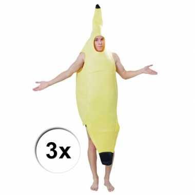 Banaan verkleedkleding drie stuks groep volwassenen tip