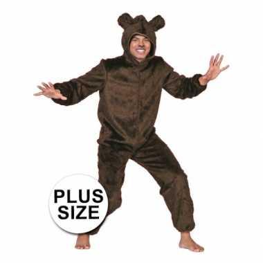 Big size beren verkleedkleding bruin tip