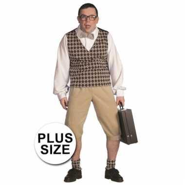 Big size nerd verkleedkleding mannen tip