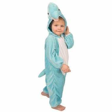 Blauw dolfijnen verkleedkleding kind tip