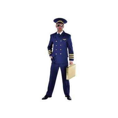 Blauw piloten verkleedkleding heren tip