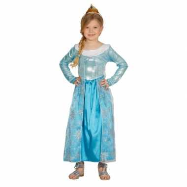 Blauw prinsesje carnavalsverkleedkleding tip