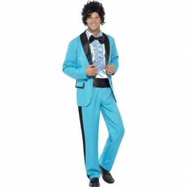 Blauwe disco verkleedkleding heren tip