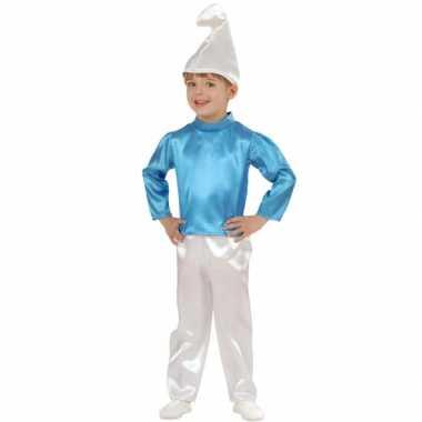 Blauwe kabouter kinder verkleedkleding tip