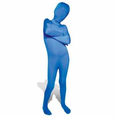 Blauwe morphsuit verkleedkleding kind tip