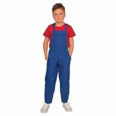 Blauwe tuinbroek/verkleedkledingl kind tip