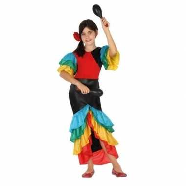 Braziliaanse samba/rumba danseres verkleed verkleedkledingvoor meisj