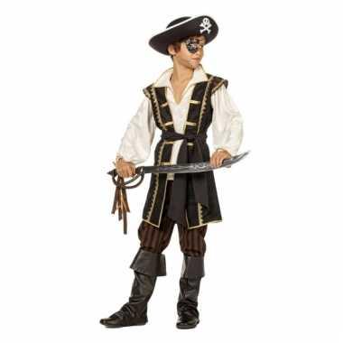 Bruin verkleedkleding pirate jongens tip
