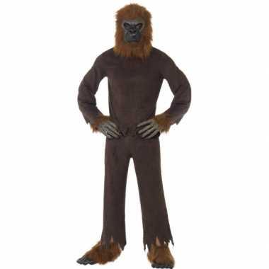 Bruine apen verkleedkleding volwassenen tip