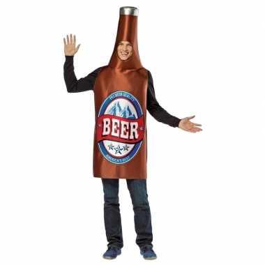 Carnaval bier verkleedkleding flesje tip