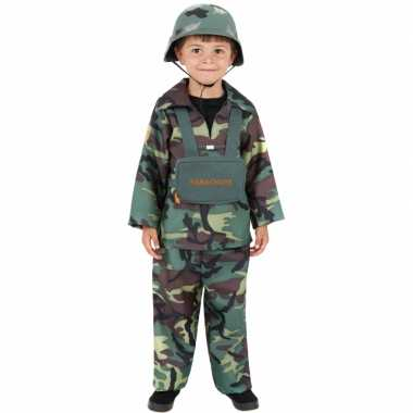 Carnaval camouflage verkleedkleding kind tip