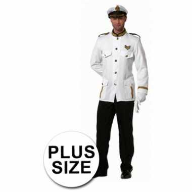 Carnaval grote maten kapitein verkleedkleding heren tip