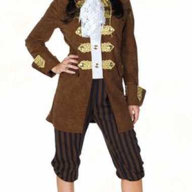 Carnaval piraten verkleedkleding bruin tip