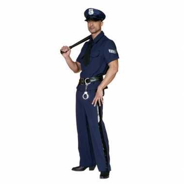 Carnaval Politieverkleedkleding heren tip