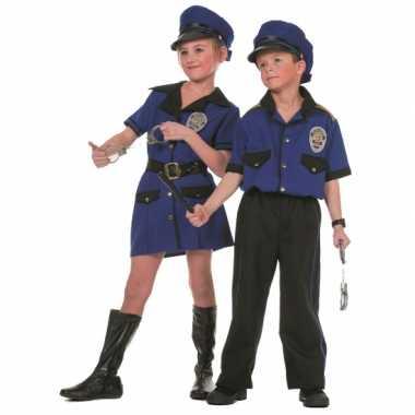 Carnaval Politieverkleedkleding meisjes tip