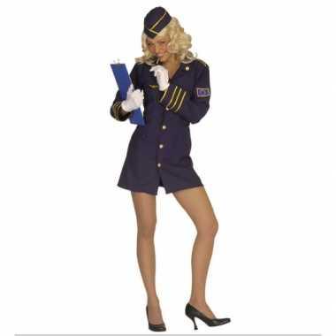 Carnaval Stewardess verkleedkledingje dames tip