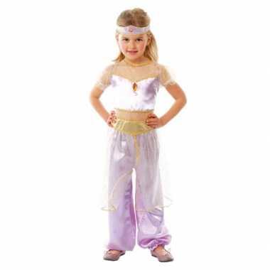 Carnavals verkleedkleding lichtpaars Arabische prinses tip