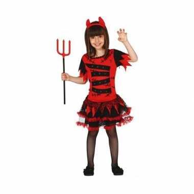 Carnavals verkleedkleding meisjes duiveltje tip