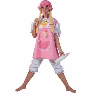 Carnavals verkleedkleding roze baby dames tip