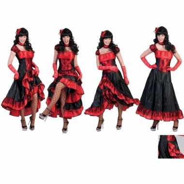 Carnavalsverkleedkleding cancan damesjurk tip