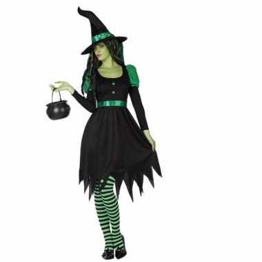 Carnavalsverkleedkleding heksen jurk dames tip