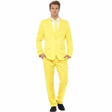 Carnavalsverkleedkleding heren verkleedkleding geel tip