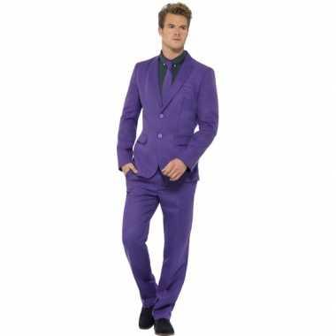 Carnavalsverkleedkleding heren verkleedkleding paars tip