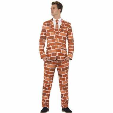 Carnavalsverkleedkleding heren verkleedkleding stenen muur tip
