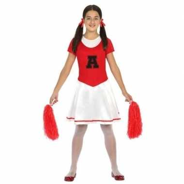 Cheerleader jurk/jurkje verkleed verkleedkleding meisjes tip