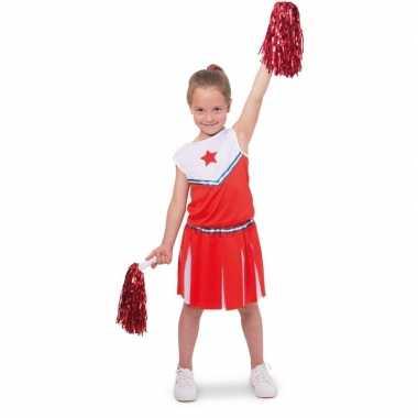 Cheerleader verkleedkledingje verkleed verkleedkleding meisjes tip
