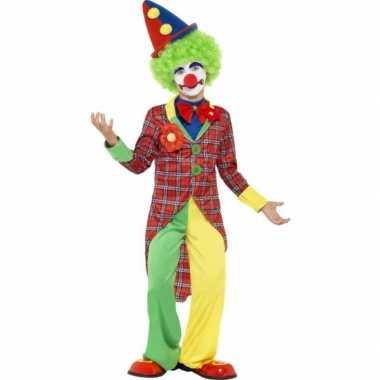 Clown carnaval verkleedkleding kind tip