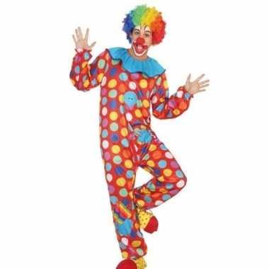 Clown verkleed verkleedkleding/verkleedkleding heren tip
