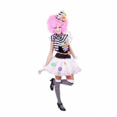 Clown verkleedkleding zwart wit tip