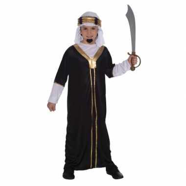 Compleet arabieren verkleedkleding zwart tip