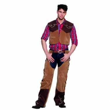 Cowboy verkleedkleding bruin tip