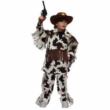 Cowboy verkleedkleding koeienprint kind tip