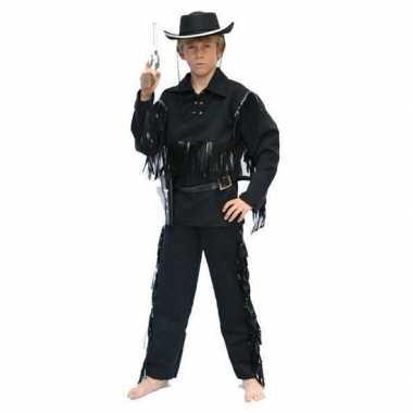 Cowboy verkleedkleding zwart kind tip