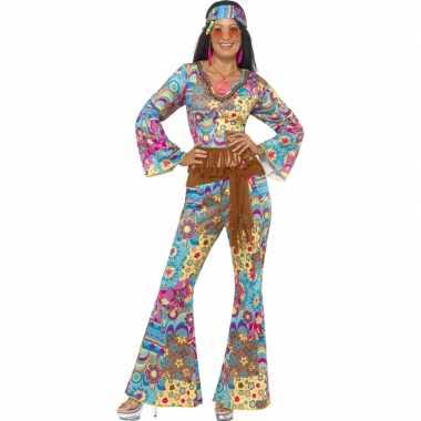 Dames verkleedkleding flower power tip