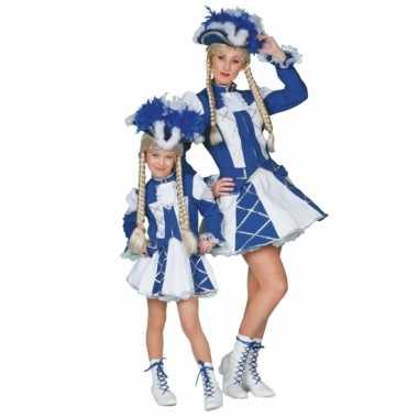 Dansmarieke verkleedkleding blauw meiden tip