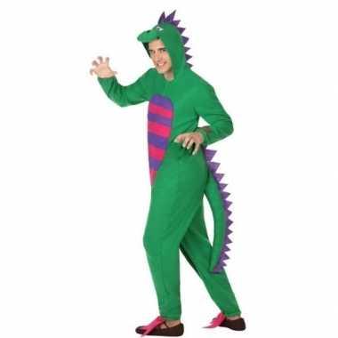 Dierenverkleedkleding groene draak verkleedverkleedkleding heren tip
