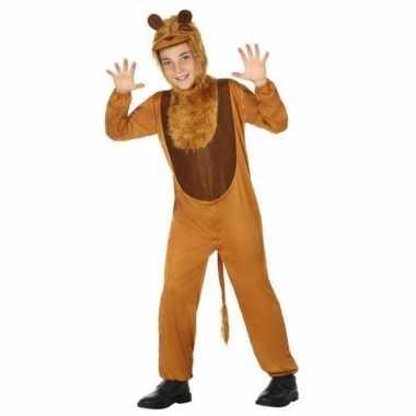 Dierenverkleedkleding leeuw/leeuwen verkleed verkleedkleding kind ti