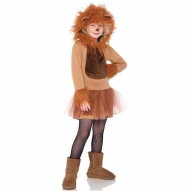 Dierenverkleedkleding leeuwen jurkje kind tip