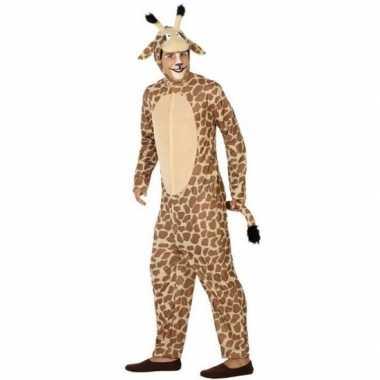 Dierenverkleedkleding verkleed verkleedkleding giraffe volwassenen t