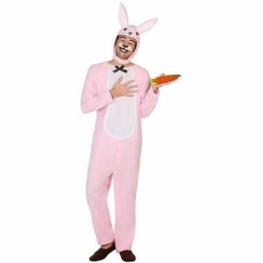Dierenverkleedkleding verkleed verkleedkleding paashaas/konijn volwa