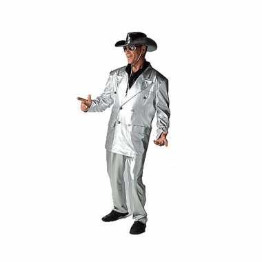 Disco verkleed verkleedkleding zilver tip