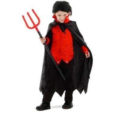 Dracula/vampier verkleed verkleedkleding cape kind tip