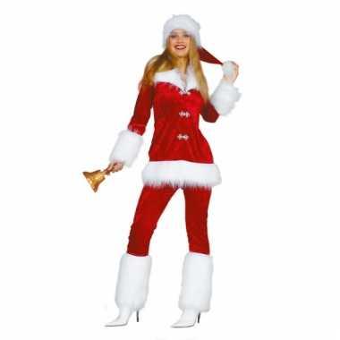 Fluweel kerstvrouw verkleedkleding tip