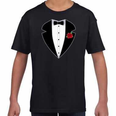 Gangster / maffia verkleedkleding verkleedkleding t shirt zwart kind