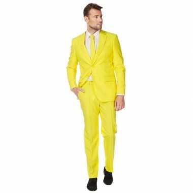 Gele maatverkleedkledingken heren tip