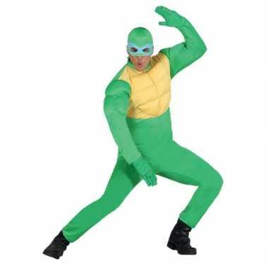 Groen ninja verkleedkleding mannen tip